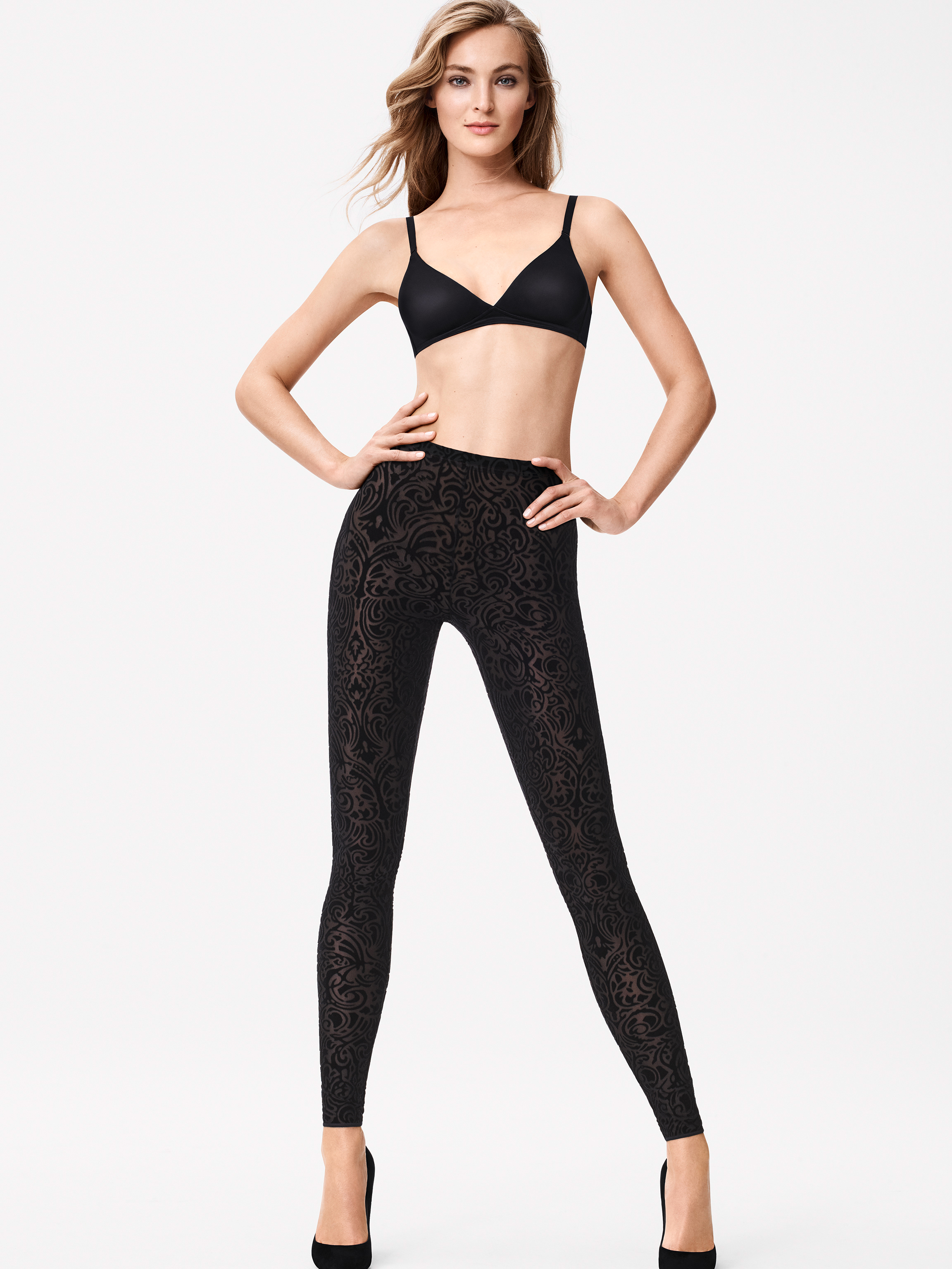 Unbeatable softness: Leggings with wonderfully soft velvet decoration. The figure-hugging cut and comfortably soft waistband ensure a perfect fit.