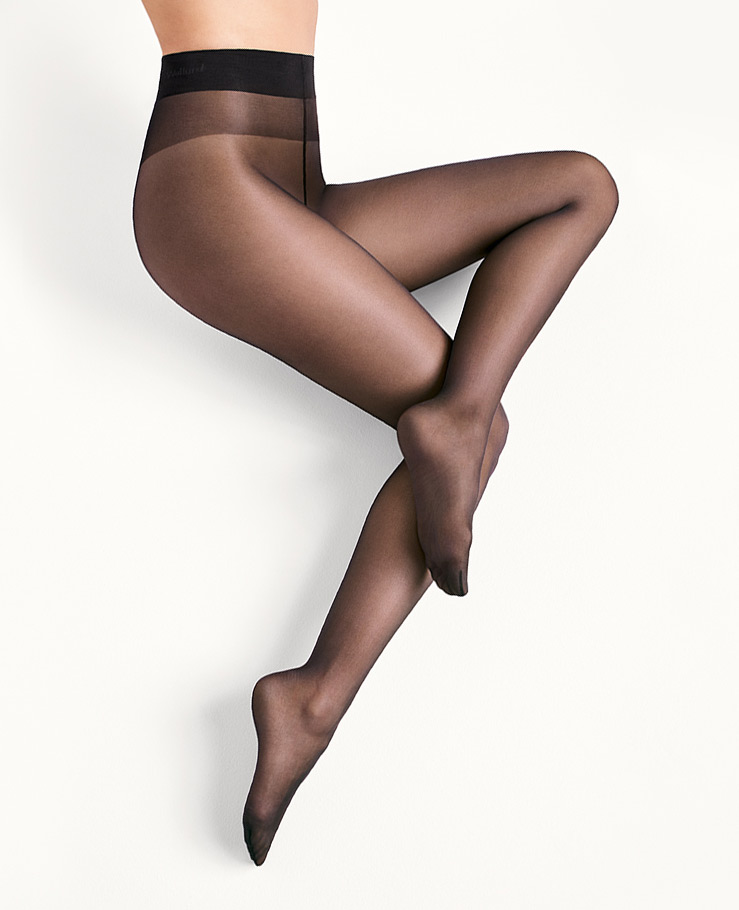 Nearly Black  Size Large 18378-09 Wolford Satin Touch 20 Tights Color